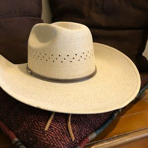 cfbdd3c7c74c5 atwood Accessories - Genuine atwood creme blonde leather cowboy hat
